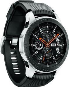 Shop Samsung Galaxy Watch Smartwatch Stainless Steel LTE (unlocked) Silver at Best Buy. Stylish Watches, Luxury Watches, Cool Watches, Watches For Men, Popular Watches, Casual Watches, Galaxy Smartwatch, Android Watch, New Samsung Galaxy