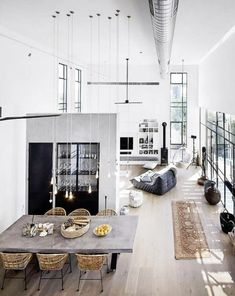 'Minimal Interior Design Inspiration' is a weekly showcase of some of the most perfectly minimal interior design examples that we've found around the web - all Interior Design Examples, Loft Interior Design, Scandinavian Interior Design, Interior Design Inspiration, Interior Ideas, Design Ideas, Scandinavian Living, Design Styles, Blog Design