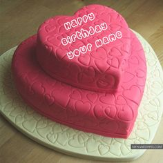 Custom Name Writing Birthday Wishes Name Cake Pictures Send Birthday Cake, Heart Birthday Cake, Butterfly Birthday Cakes, Special Birthday Cakes, Best Birthday Wishes, Happy Birthday Cakes, Name Pictures, Profile Pictures, Cake Wallpaper