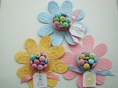 Stampin' Up!  Flower Folds  Easter Favors