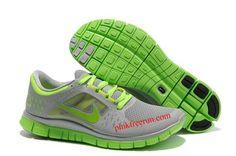 0d30742ef1de9 Star s favorite Cool Grey Reflect Silver Volt Mens Nike Free Run 3 Running  Shoes Shop