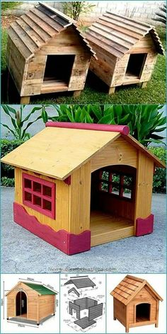 Pallet Dog House, Pallet Dog Beds, Wood Pallet Recycling, Recycling Ideas, Woodworking Projects Diy, Pallet Projects, Wood Pallets, Pallet Wood, Diy Dog Bed