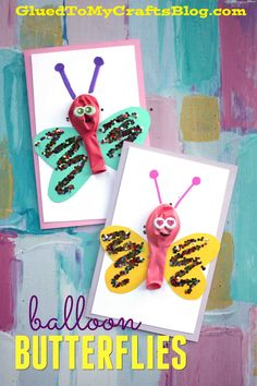 Balloon Butterfly Cards - Kid Craft