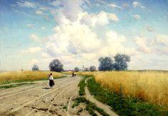Kryzhitsky Constantine - Road. 200 Russian painters • download painting • Gallerix.ru
