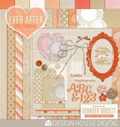 This weekend only! Ever After full kit freebie from Gennifer Bursett #scrapbook…