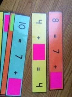 Classroom Freebies: Sticky Note Math! Use with mult/div also!