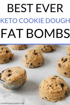 Keto Cookie Dough Fat Bombs Keto Chocolate Chip Cookies, Chocolate Fat Bombs, Almond Cookies, Pumpkin Cookies, Macaroon Cookies, Shortbread Cookies, Pecan Cookies, Keto Cookies, Sugar Cookies