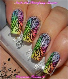 Rainbow Manicure With Apipila Super Placa A