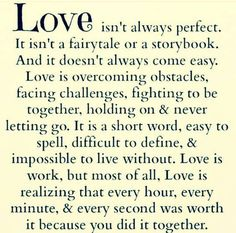 famous love quote: love isn't always perfect - love images