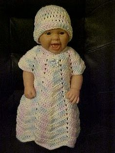 Ripple Baby Gown free crochet pattern