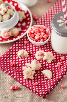 Candy Cane Shortbread Bites