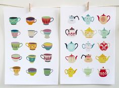 Cups and teapots illustration | Laura Amiss