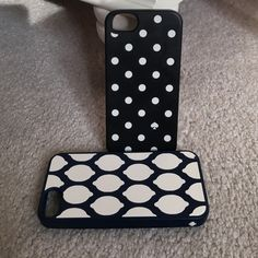 Kate Spade IPhone 5/5s cases!! Two Kate Spade cases lightly used! Rubberized and flexible!! Provide great protection.  kate spade Accessories Phone Cases