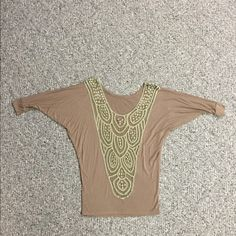 Dolman top with lace back Dolman top from Windsor store. Super cute back lace detail. Business in front party in back kind of top . Size medium. Gently used. Clean smoke free home. 95 rayon/5 spandex. Super stretchy. Very comfortable WINDSOR Tops Blouses