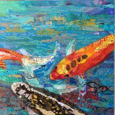 koi collage by Elizabeth St. Hilaire Nelson (part of a larger piece)