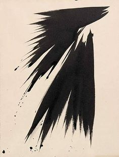 Hans Hartung, Untitled , 1956, mixed technique (Private collection)