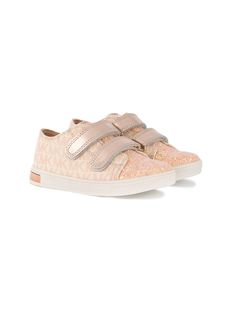 Michael Kors Kids - double strap sneakers - kids - Leather/Polyamide/rubber - 27, Pink/Purple