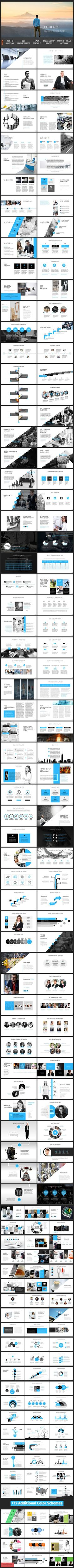Buy Phoenix - PowerPoint Presentation Template by magic_reflection on GraphicRiver. Phoenix – PowerPoint Presentation Template, is designed to fulfill all the requirement of the corporate and business . Professional Powerpoint Templates, Powerpoint Themes, Creative Powerpoint Templates, Powerpoint Presentation Templates, Graphisches Design, Layout Design, Design Ideas, Layout Template, Keynote Template