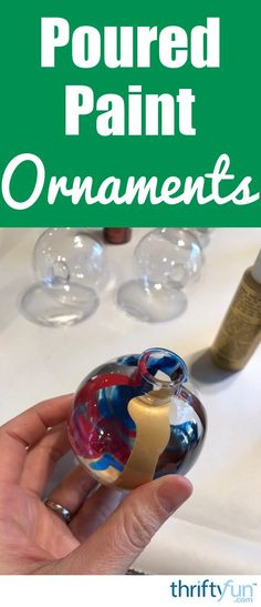 Plain glass ornaments can be made fabulous with the addition of some paint poured directly inside. This is a guide about making poured paint glass ornament balls. ornament crafts for kids Making Poured Paint Glass Ornament Balls Glass Christmas Balls, Painted Christmas Ornaments, Christmas Crafts, Christmas Ideas, Felt Christmas, Homemade Christmas, Christmas Decorations, Holiday Ornaments, Christmas Holiday