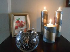 DIY Concrete Candle Holders From Pringle and Coffee Cans