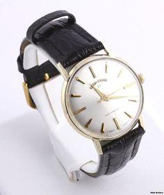 mens antique 1906 elgin fancy color porcelain dial hinged gold vintage men s watch lord elgin engraved 10k yellow gold stuller leather band p1030