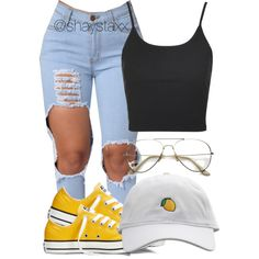 A fashion look from August 2016 featuring Topshop tops, Converse sneakers and ZeroUV eyeglasses. Browse and shop related looks.
