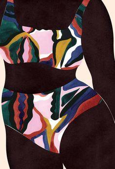 Black Girl Art, Black Art, Art Girl, Graphisches Design, Vintage Poster, Aesthetic Art, African Art, Art Inspo, Pop Art