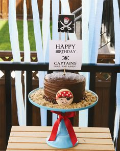 Fantastic {Red & White Striped} Pirate Party: The Cake