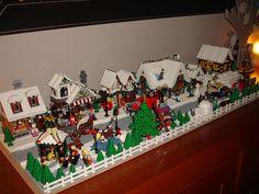 Final Lego Winter Village Layout by LegoSjaak, via Flickr