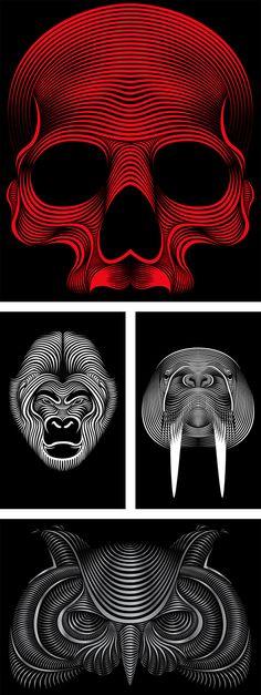 Line-Art Illustrations by Patrick Seymour | Inspiration Grid | Design Inspiration