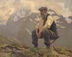 John Singer Sargent (American, 1856–1925). Reconnoitering (Ambrogio Raffele)…