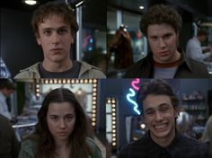Freaks and Geeks - haha James Franco's face!