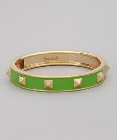 Another great find on #zulily! Gold & Green Linda Bangle #zulilyfinds