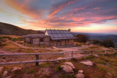 Sunset at Craigs Hut, (near) Mt Sterling, Victoria Australia. It was actually called 'clear hills' and is in Alpine National Park
