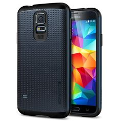 Galaxy S5 Case, Spigen Slim Armor Case for Galaxy S5 - Retail Packaging - Metal Slate (SGP10751) Spigen