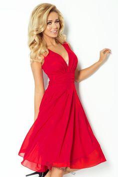 DÁMSKÉ OBLEČENÍ | Dámské šaty | Šaty Numoco šifónové malinové | Bellaboutique online prodej dámského oblečení, e-shop s dámskou módou, elegantní a stylové oblečení, společenské oděvy