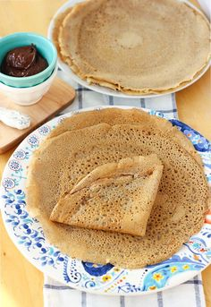 Buckwheat Blender Crepes! The easiest crepes you'll ever make! Lightly sweet and full of wholesome ingredients. Perfect for your favorite crepe fillings.  {Gluten-Free, Dairy-Free}   Meaningful Eats