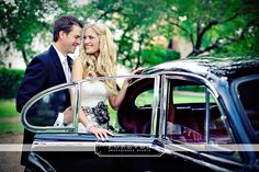 #inlove Austin, TX , Austin 71, Classic Car, Vintage Wedding, Christina and Mitch, Enzoani