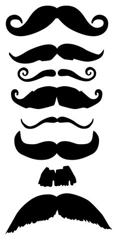 mustache template moustaches pinterest templates and