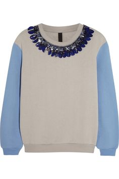Mother of Pearl Berg embellished cotton-jersey sweatshirt #THEOUTNET