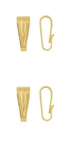 Other Jewelry Design Findings 164356: 14 K Yellow Gold Snap-On Pendant Bail, Opening: 9.6 X 3.0 Mm BUY IT NOW ONLY: $39.6