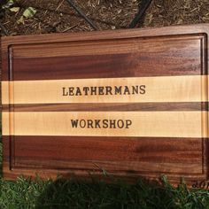 Finally kept a board for myself #leathermansworkshop #maple #walnut #sapele #hardwood #wood #woodwork #handmade #cuttingboard #homedecor #chef #cooking #cutting de leathermans_workshop