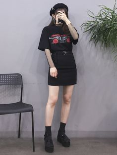 Korean fashion. Style skirt outfits like you would be comfortable wearing it skirt lenght wise.