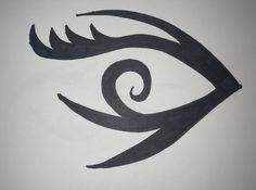Tribal-Style Eye Art Drawings, Tribal Art, Drawings, Art, Tribal Art Drawings, Lyric Art, Sharpie Art