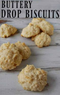 They aren't your classically formed, perfect circles that you are used to seeing. Buttery drop biscuits are the lazy way of making biscuits. I like the easy way. Easy is good when you have to make a bunch of food or you have kids trying to pull you away from the cooking. #biscuits #dropbiscuits #homemade #fromscratch #buttery