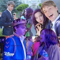 Aww I love this collage of Dove Cameron and and Mitchell Hope