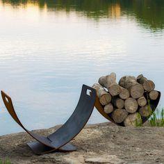 Fire Pit Art Wings of Flight Artisan Log Rack