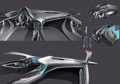 Car Interior Sketch, Car Interior Design, Automotive Design, Interior Design Renderings, Interior Rendering, Interior Concept, Car Ui, Dashboard Car, Future Concept Cars