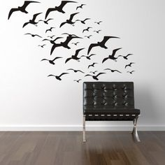 Vinyl Wall Decal Birds // Seagulls// Flying by EmpireCityStudios, Beach Wall Decals, Vinyl Wall Decals, Seagulls Flying, White Mirror, Textured Walls, Wall Murals, Wall Decor, Bedroom Decor, Birds