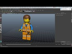 Painting Textures For A Lego Charcter - Maya and Sketchbook Pro - YouTube